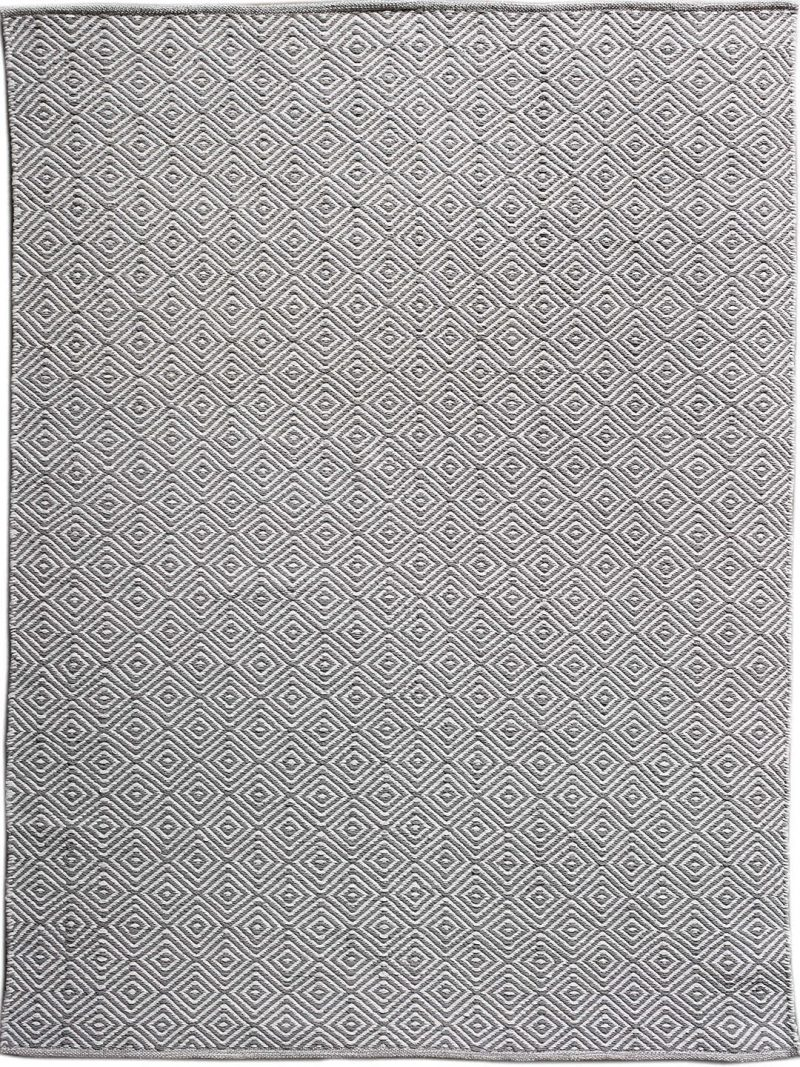 Diamond Grey White flatweave rug image