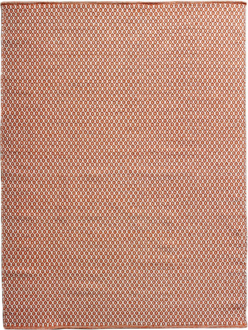 Hive Orange White flatweave rug image
