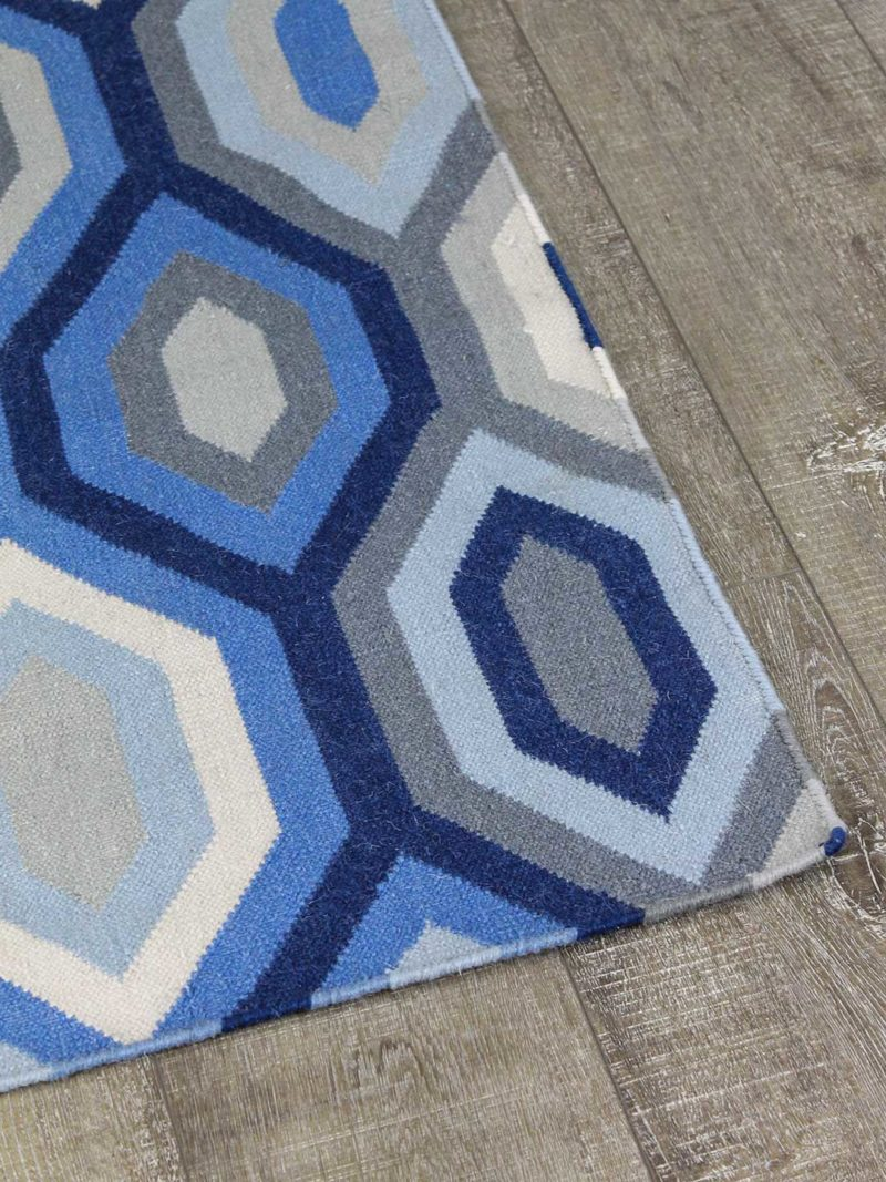 Noumea flatweave rug in geometric patterns made from 100% wool