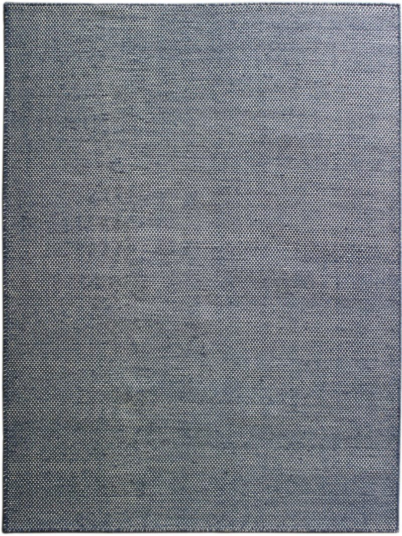 Sorrento Denim Ivory flatweave rug full image