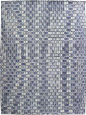 Tropic Denim White flatweave rug image