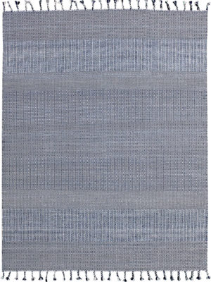 Braid Kilim Blue Denim flatweave rug overhead image
