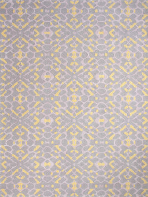 Carousel Mellow, Pink, Grey and Yellow is a Handtufted New Zealand wool blend with a delicate Artsilk pattern.