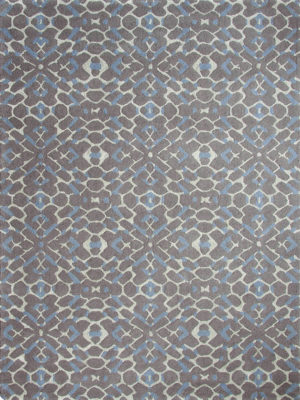 Carousel Slate, Grey, Blue and Taupe is a Handtufted New Zealand wool blend with a delicate Artsilk pattern.