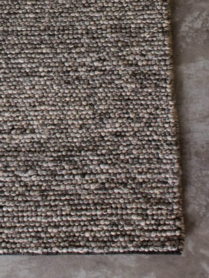 Fizzle Grey is a beautifully hand woven loop pile rug in a New Zealand wool blend.