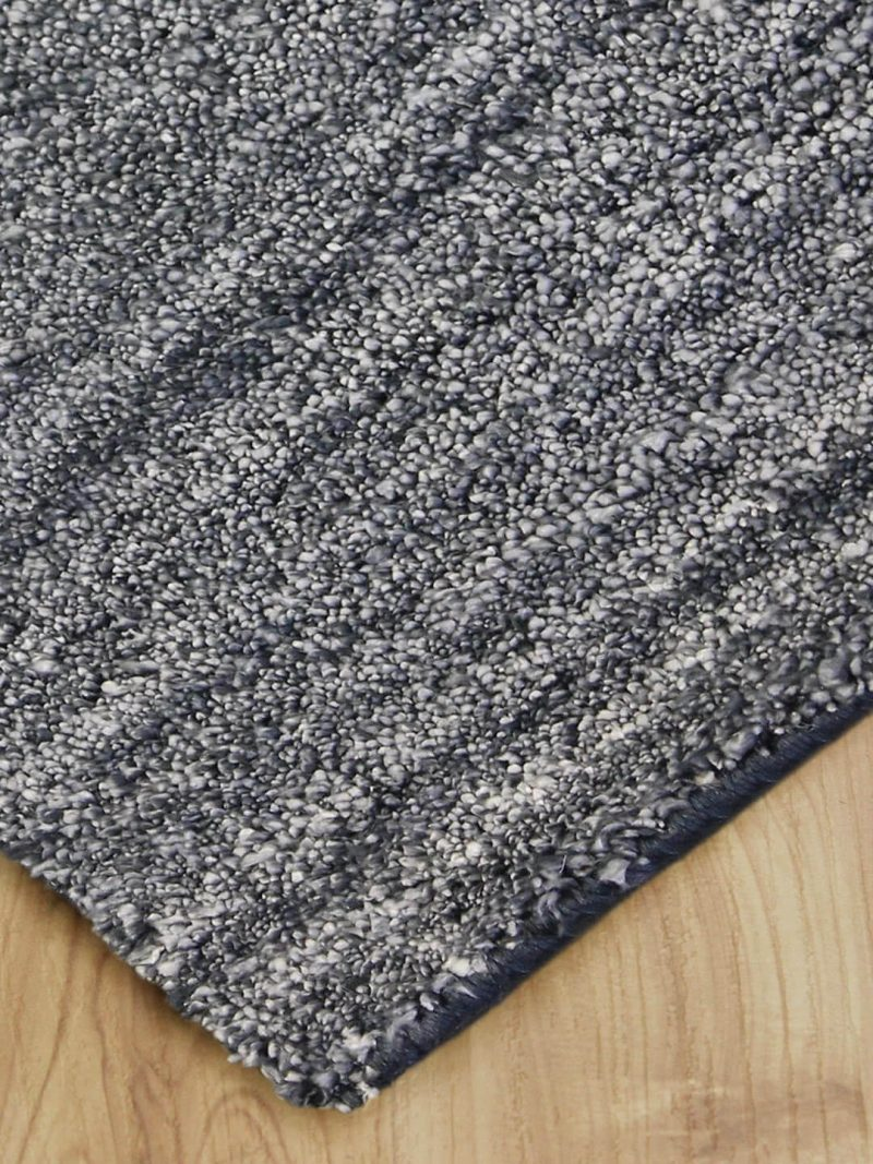 Plush Grey is a Luxurious handloom knotted artsilk rug