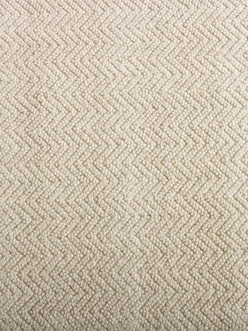 Salamanca Biscuit Beige. Hand woven pure wool rug, with a woven chevron pattern.