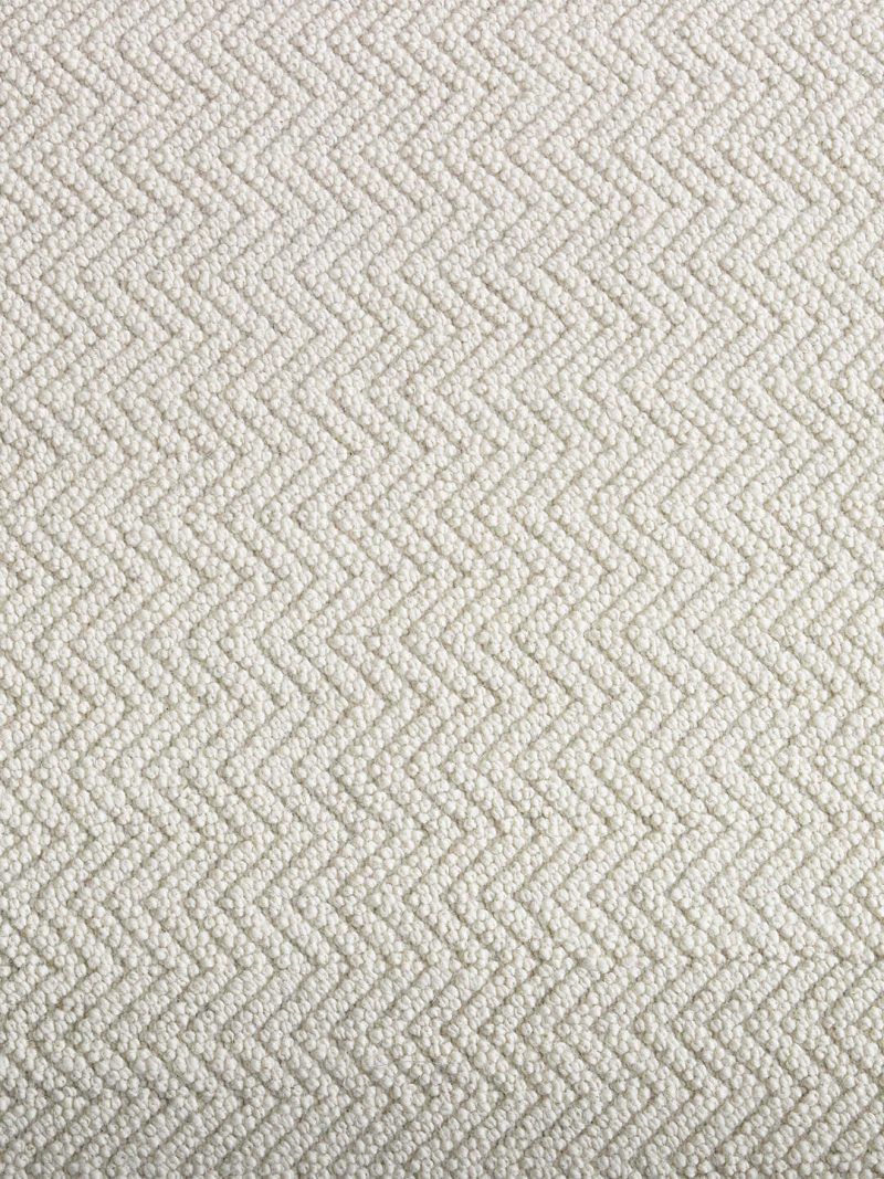 Salamanca Ivory. Hand woven pure wool rug, with a woven chevron pattern.