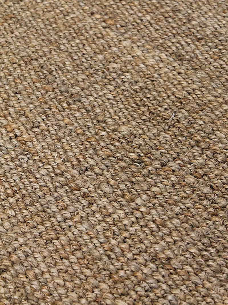 Ayana Natural rug is a thick and textured handwoven 100% jute rug