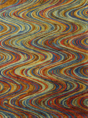Barcelona Swirl Multi. Handtufted Wool Rug.