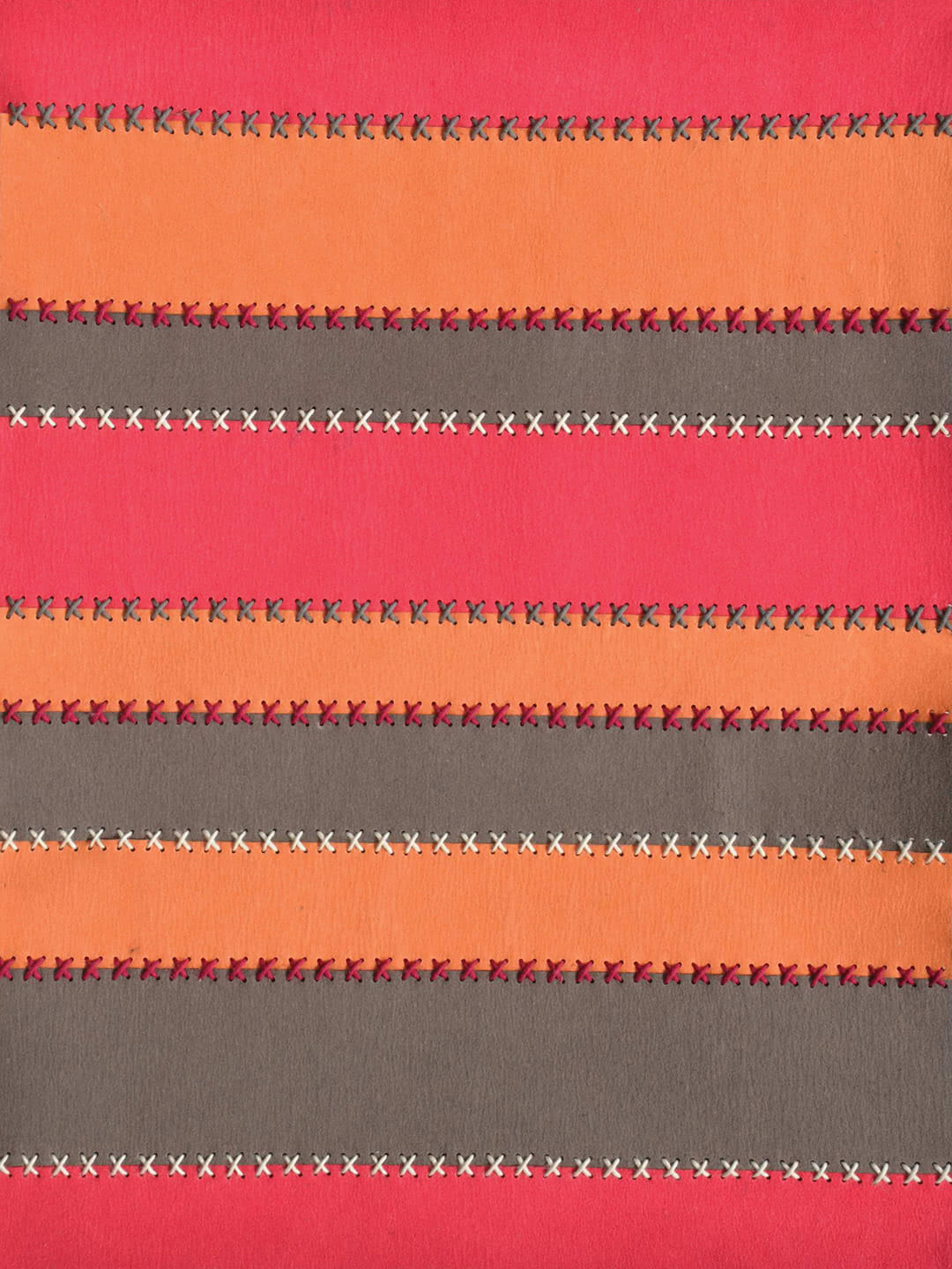 Belle Felted Wool rug in Orange, Pink and Grey.