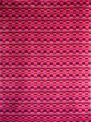 Everest Grape handloom knotted wool rug - overhead image