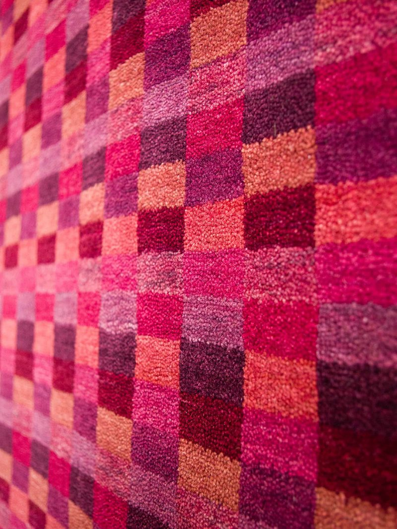 Everest Grape handloom knotted wool rug - detail image