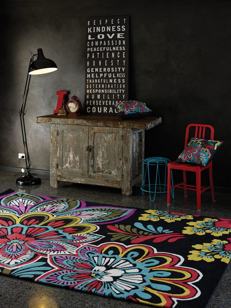 KAS Ingrid in Forest Multi. Handtufted NZ Wool Blend rug.
