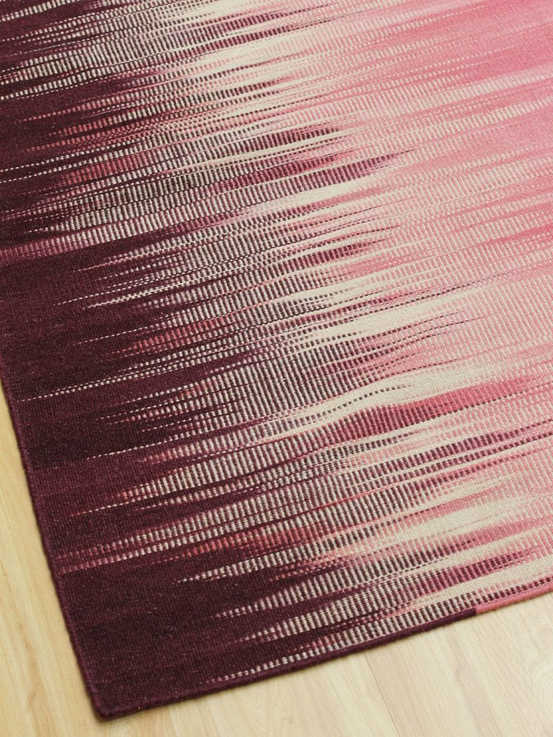 Orissa Pink/Purple 100% Wool Flatweave