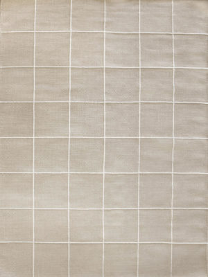 Resolve cashmere rug by Shaynna Blaze handmade form pure wool in cream and white overhead
