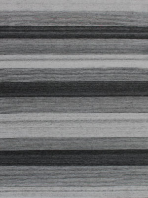 Vetro Charcoal/Silver reversible rug in handwoven wool and artsilk mix - overhead image