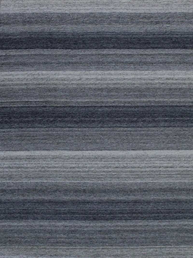 Vetro Denim reversible rug in handwoven wool and artsilk mix - overhead image