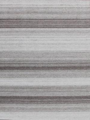 Vetro Silver/Taupe reversible rug in handwoven wool and artsilk mix - overhead image