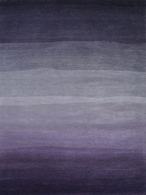 Horizons Himalaya. A plush pile rug in deep purple ombre hues, hand tufted in New Zealand wool blend.