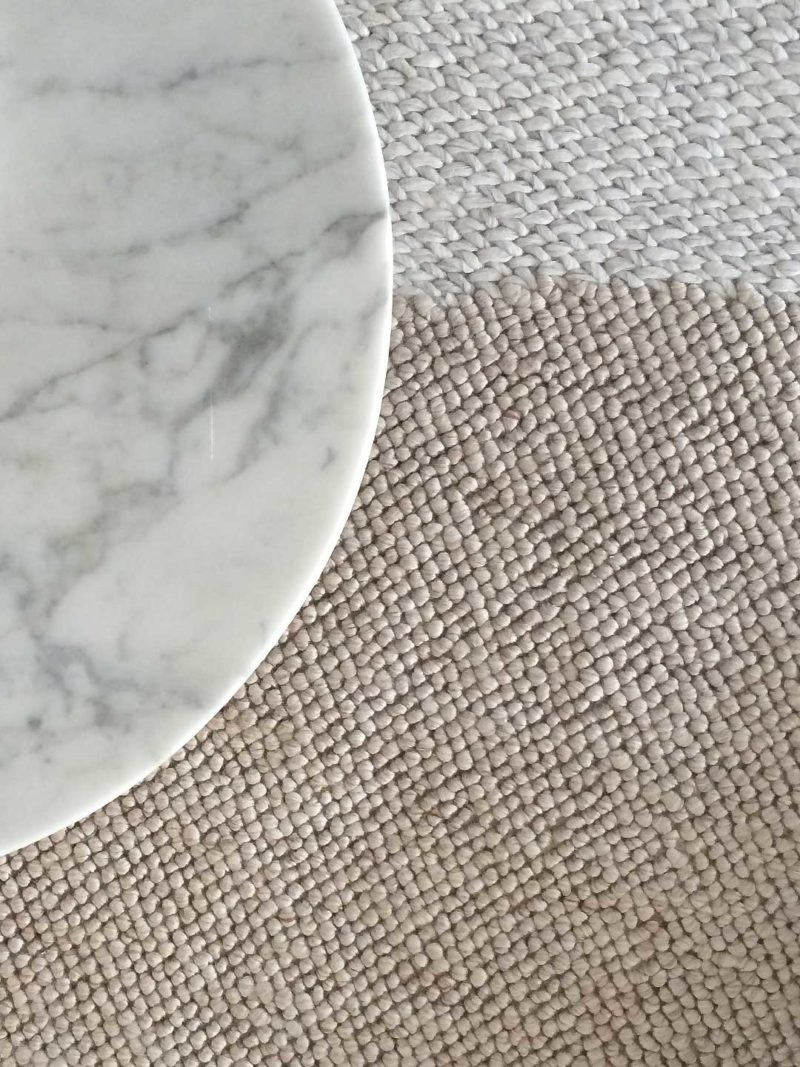 spotlight rug with beautful texture from we are home