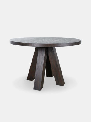 Aria wooden round dining table