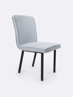 Bella Cloud grey fully upholstered dining chair