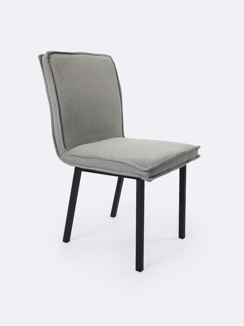 Bella Dove grey fully upholstered dining chair