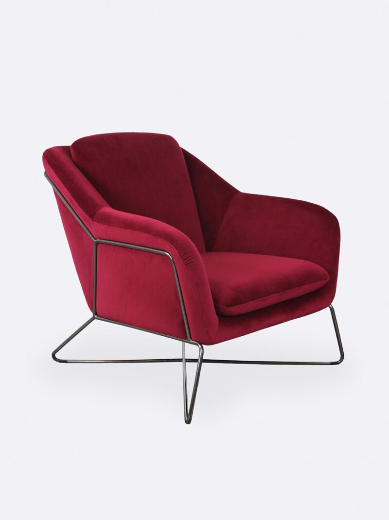 Charlotte Ruby red occasional velvet chair