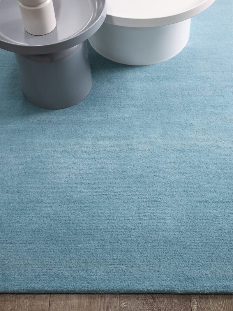 Neo rug handmade 100% wool in pastel blue