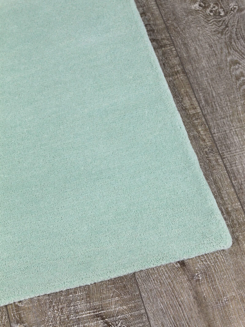 Neo rug handmade 100% wool in pastel mint green