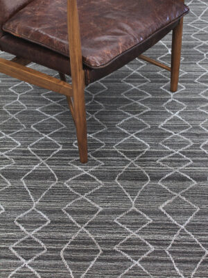 Arkaba Grey rug handmade in wool - lifestyle image