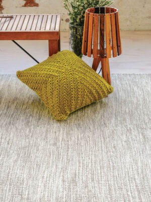 Braid Jumble Beige flatweave rug handmade in 100% wool - lifestyle image