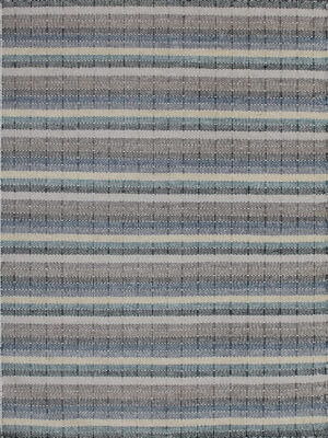 Braid Link handmade flatweave rug in Teal/Sand colours - overhead image