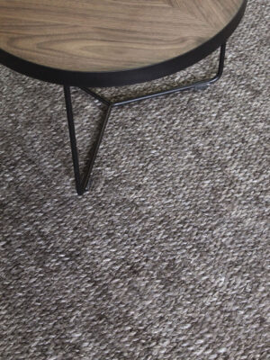 Madison Carbon handmade textured grey rug - lifestyle image