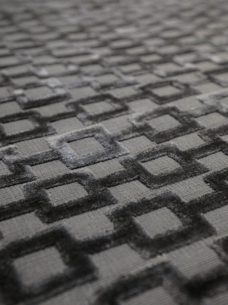 Connection Charcoal textured rug - detail image