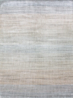 Melrose Mirage handloom knotted NZ wool and artsilk rug in multi-tone colour gradient