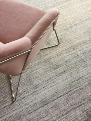 Melrose Pastel handloom knotted NZ wool and artsilk rug in multi-tone colour gradient