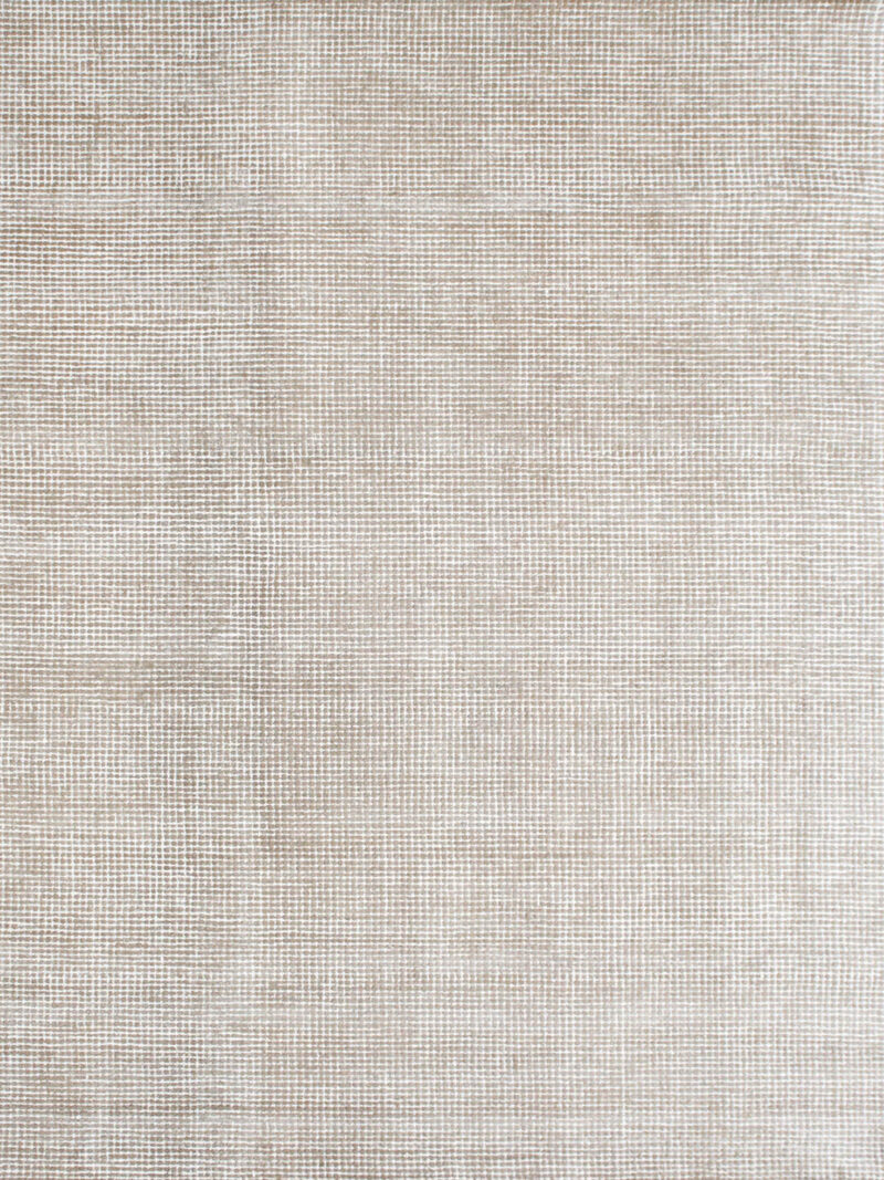 Capri Biscuit beige textured two-tone rug handmade from durable wool and nylon fibers - overhead image